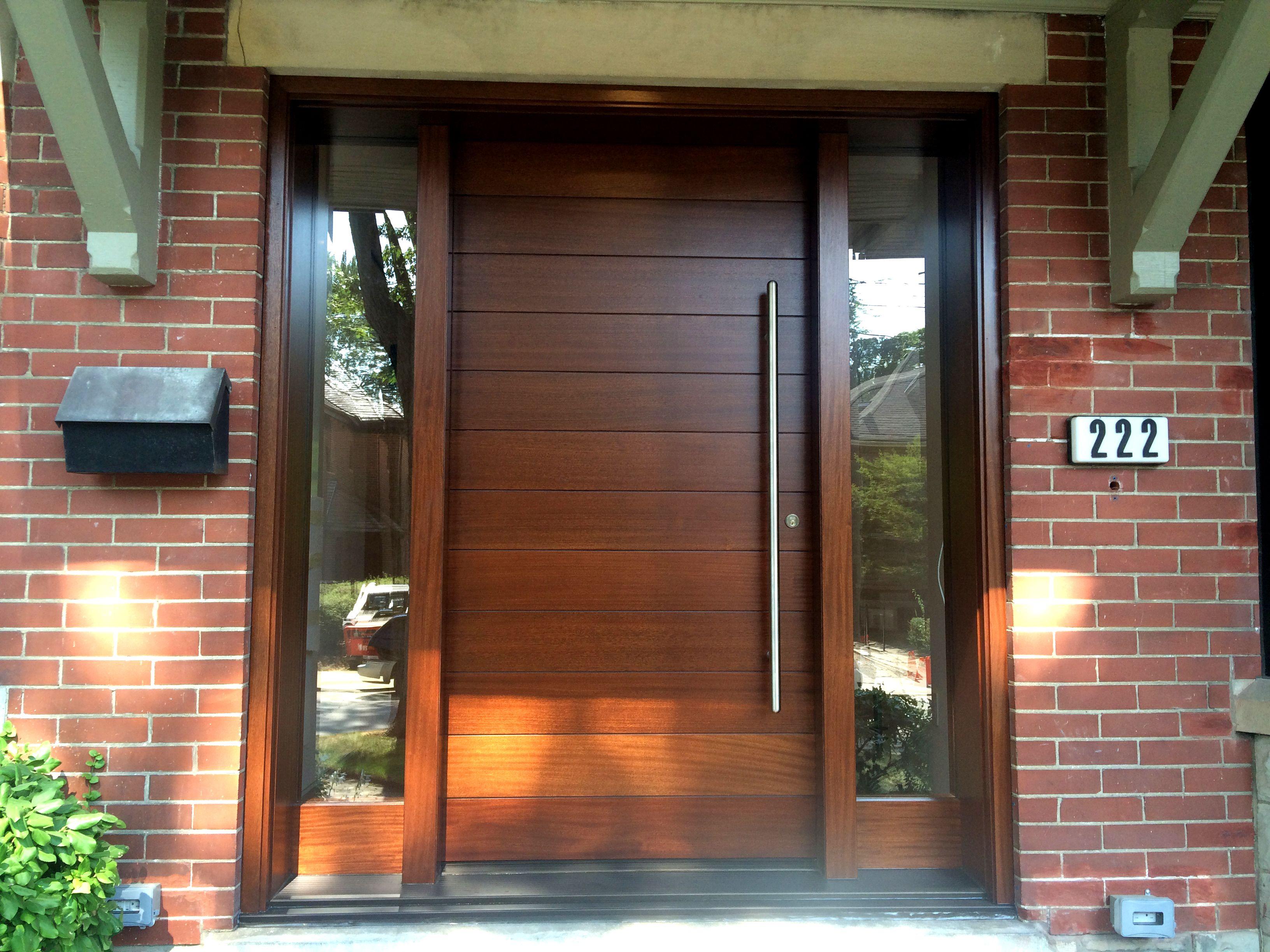 Amberwood Doors Inc: This Stunning #Amberwood Modern Solid Mahogany Horizontal