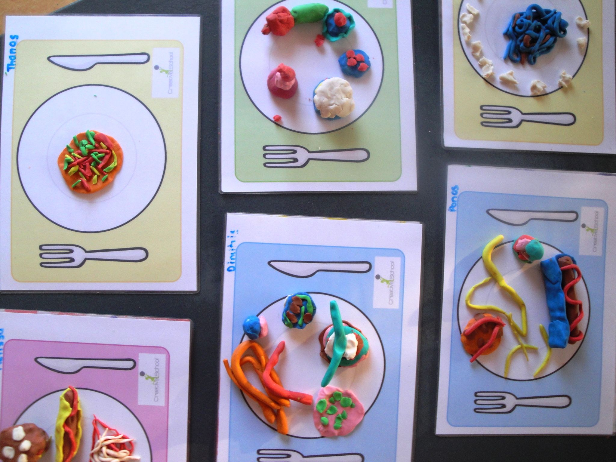 My favourite food activity. Kids created their favourite