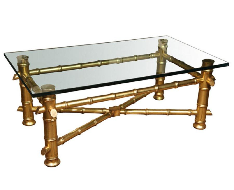 Gold Bamboo Coffee Table