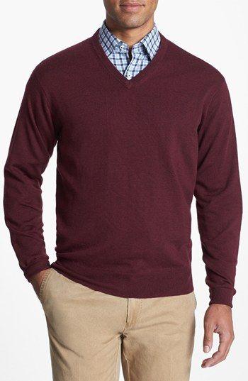 16a17ec2563a Peter Millar Merino Wool V-Neck Sweater
