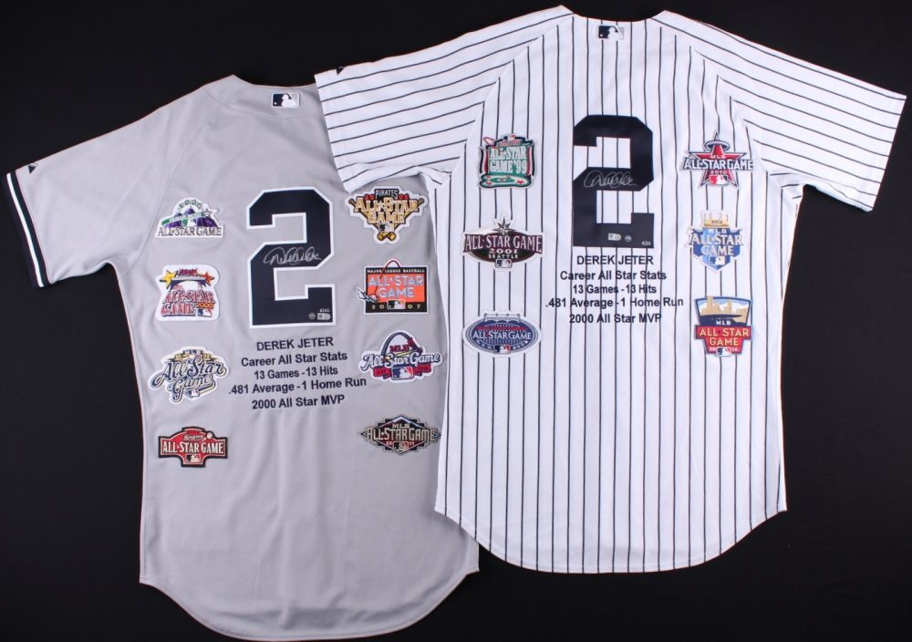 d01fe59ca DEREK JETER Autographed All Star Patch Authentic Jersey Set STEINER LE 22 -  Game Day Legends
