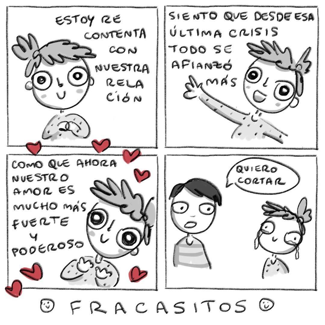 5,057 Me gusta, 166 comentarios - Fracasitos (@fracasitos) en Instagram | Comics, Instagram posts, Illustration