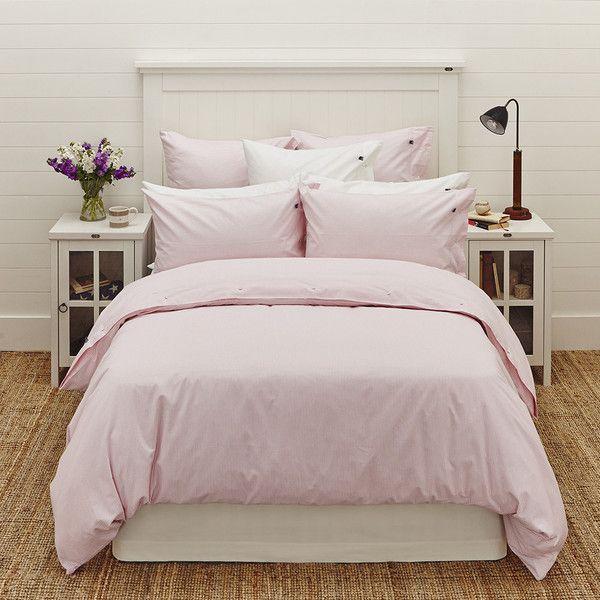 Lexington Pinpoint Duvet Cover Pink White Single Pink Duvet Cover White Linen Bedding Duvet Covers