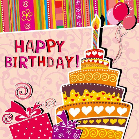 Free Birthday Cards Funny cartoon Happy Birthday cards vector 03 - happy birthday cards templates