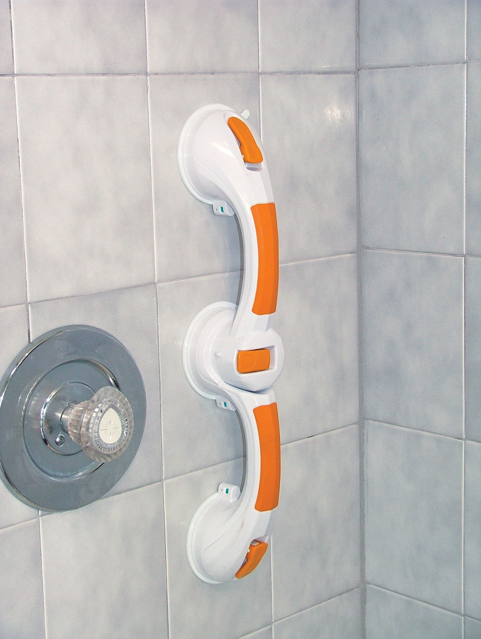 Adjustable Angle Rotating Suction Cup Grab Bar. Requires no ...