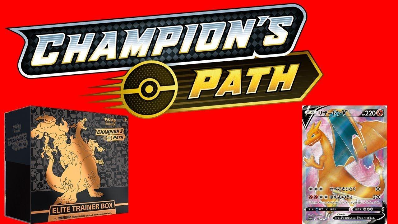 Pokemon TCG Champion's Path Elite Trainer Box PREORDER Charizard V /& VMAX