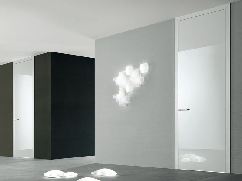 Modern White Interior Doors modern white laquer interior door | slim white luminium jamb