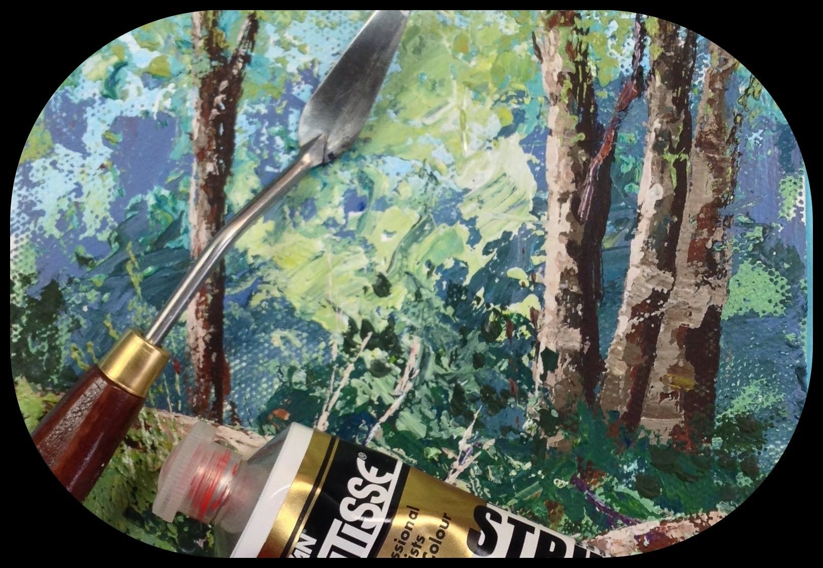How To Paint Rocks And Trees With A Palette Knife Tips And Tricks Palette Knife Painting Painting Tutorial Pallette Knife Painting