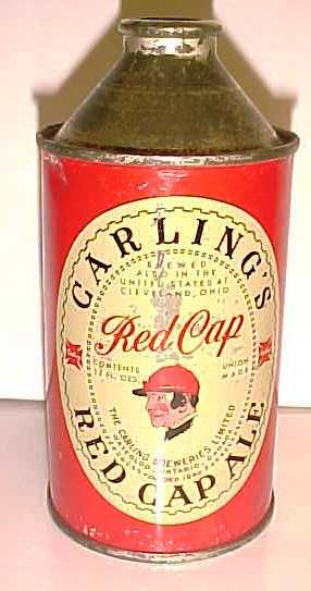 Carlings Red Cap Ale 1940 S Cone Top Beer Can Canadian Tin From The Carling Breweries Limited Waterloo Ontario Canada M Beer Store Beer Brewery Carling Beer