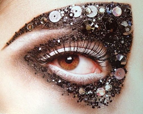 """INSPIRATION: """"FANTASTICAL"""" DIOR RUNWAY FW'12 Bits and baubles with highlights for extravagance. MUA: Pat McGrath"""
