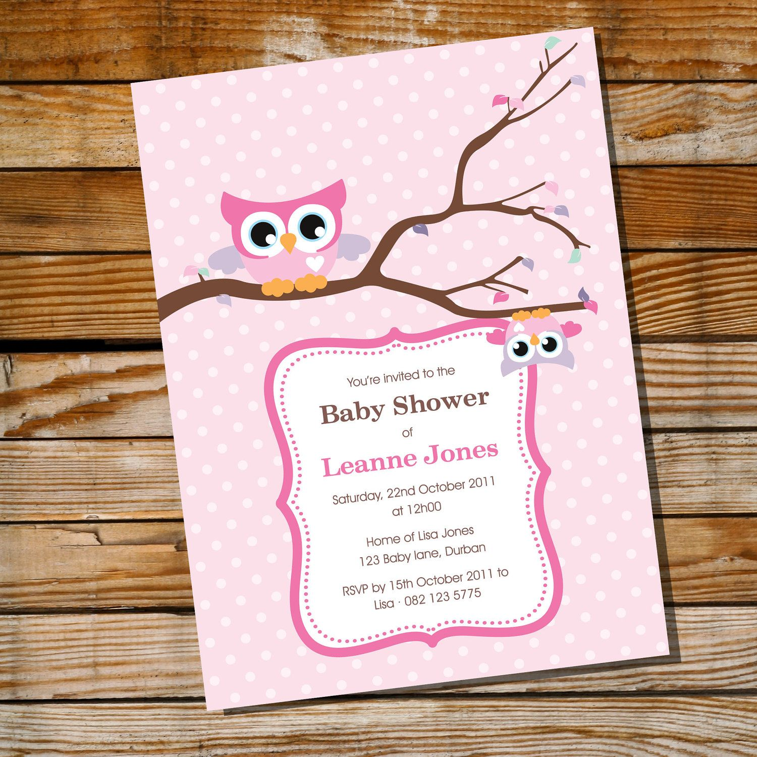 Cute Baby Owl Invitations and Decorations for a by SunshineParties ...
