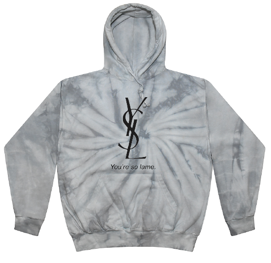 Inspired hooded sweatshirt tan tie dye color only available!