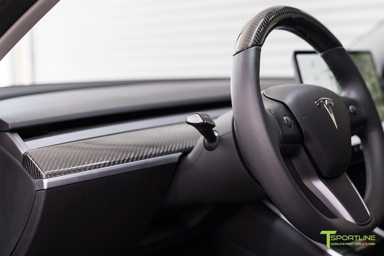 Tesla Model 3 Carbon Fiber Dash Panel | Tesla Model 3 Carbon