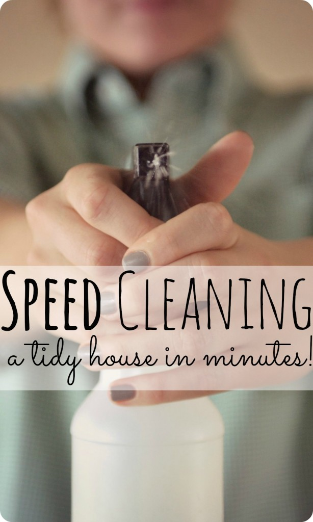 Speed Cleaning--how to get a neat & tidy house in less than 45 minutes a day! Not 100% sure I'm sold on cleaning in the morning, but generally not a bad idea.