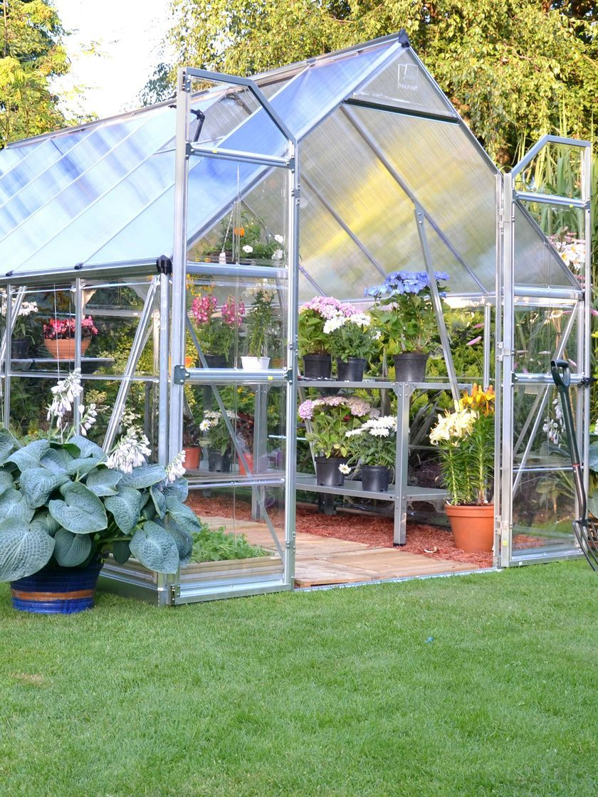 Greenhouse Kits Polycarbonate With Galvanized Steel Base