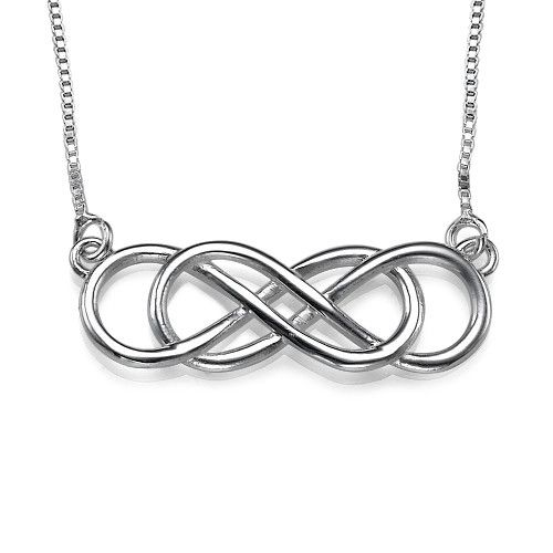 Double infinity necklace in sterling silver double infinity double infinity necklace in sterling silver aloadofball Image collections