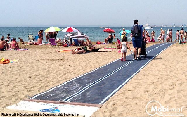 Mobi Mat Recpath Rollout Ada Beach Access Mat North Bay Marathon Beaches Aquatic Therapy