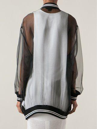 DKNY transparent bomber jacket speksi 18 Pinterest