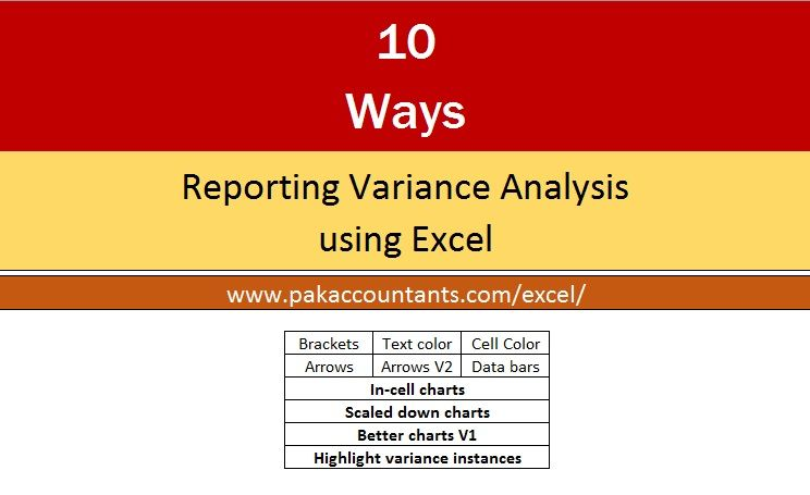10 ways to present variance analysis reports in Excel Filing and - financial analysis report writing