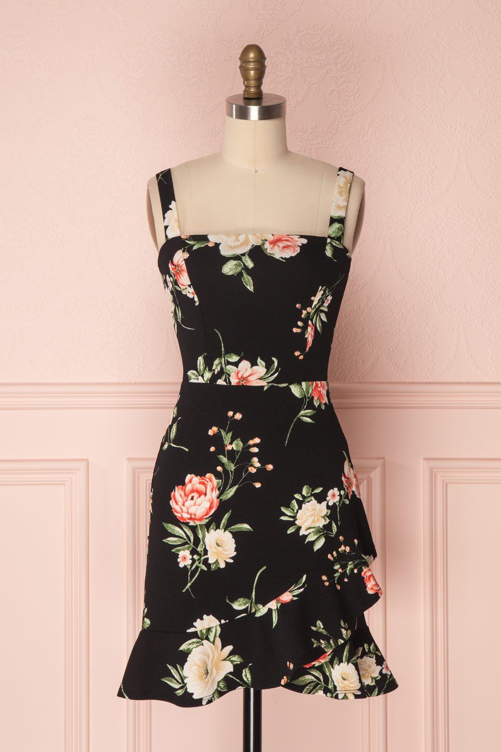 Sheath dresses for wedding guest  Chayili Black  A  Pinterest  Dresses Floral sheath dress and Robe