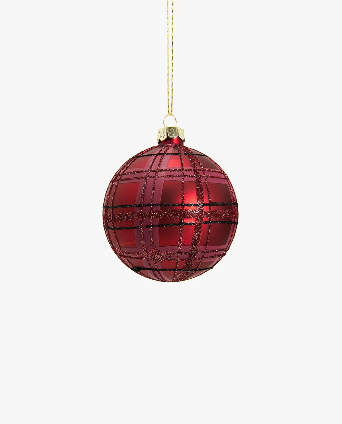 Glitter Christmas Pudding Baubles Christmas Tree Decoration Set of 3