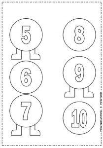 Tirtil Sayilar Boyama Etkinligi Tirtil Matematik Okul Oncesi