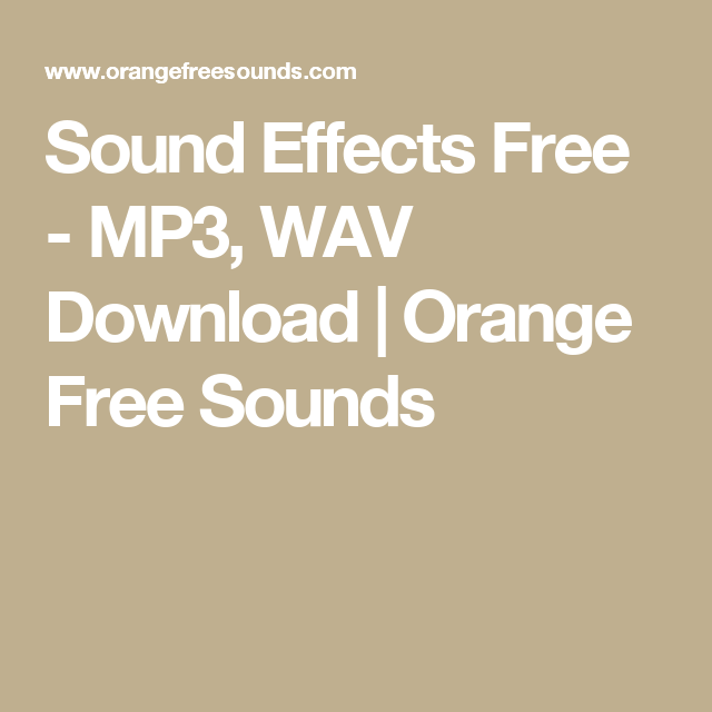 download nature sounds for free