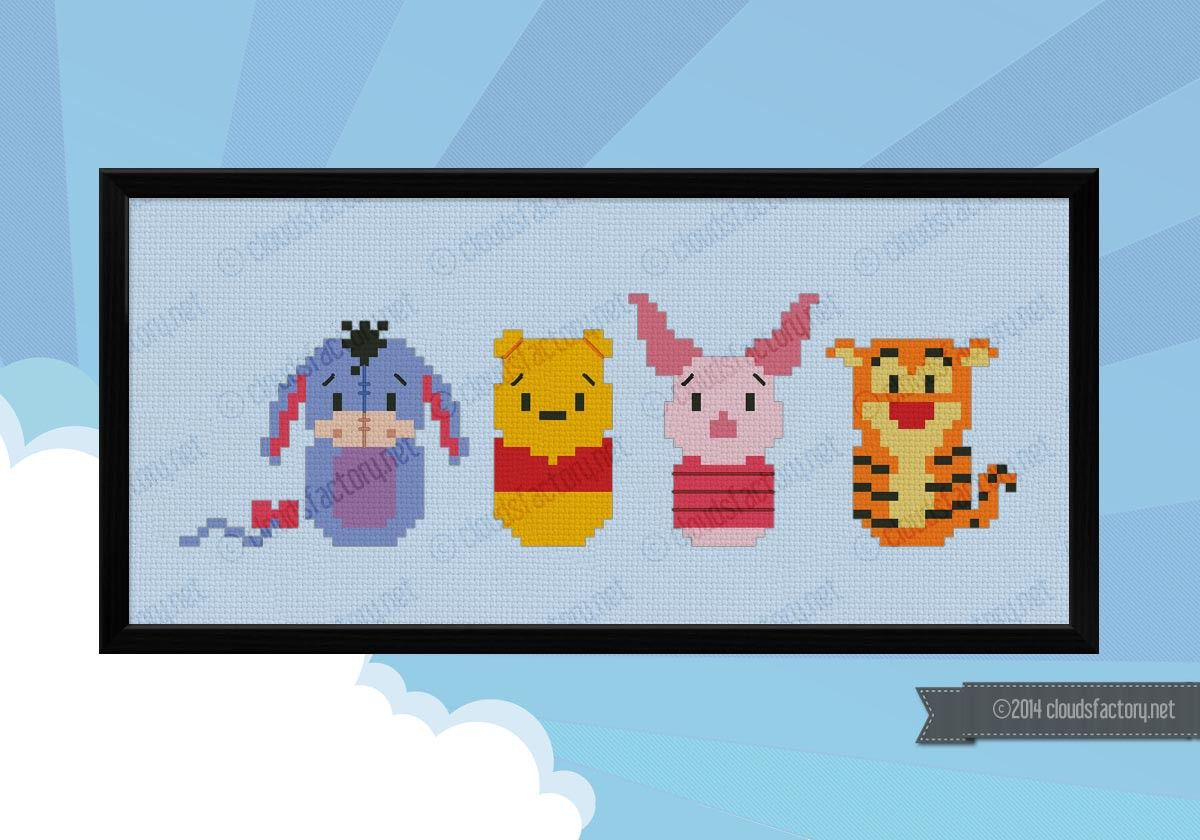 Winnie the Pooh - Cross Stitch Patterns - Products