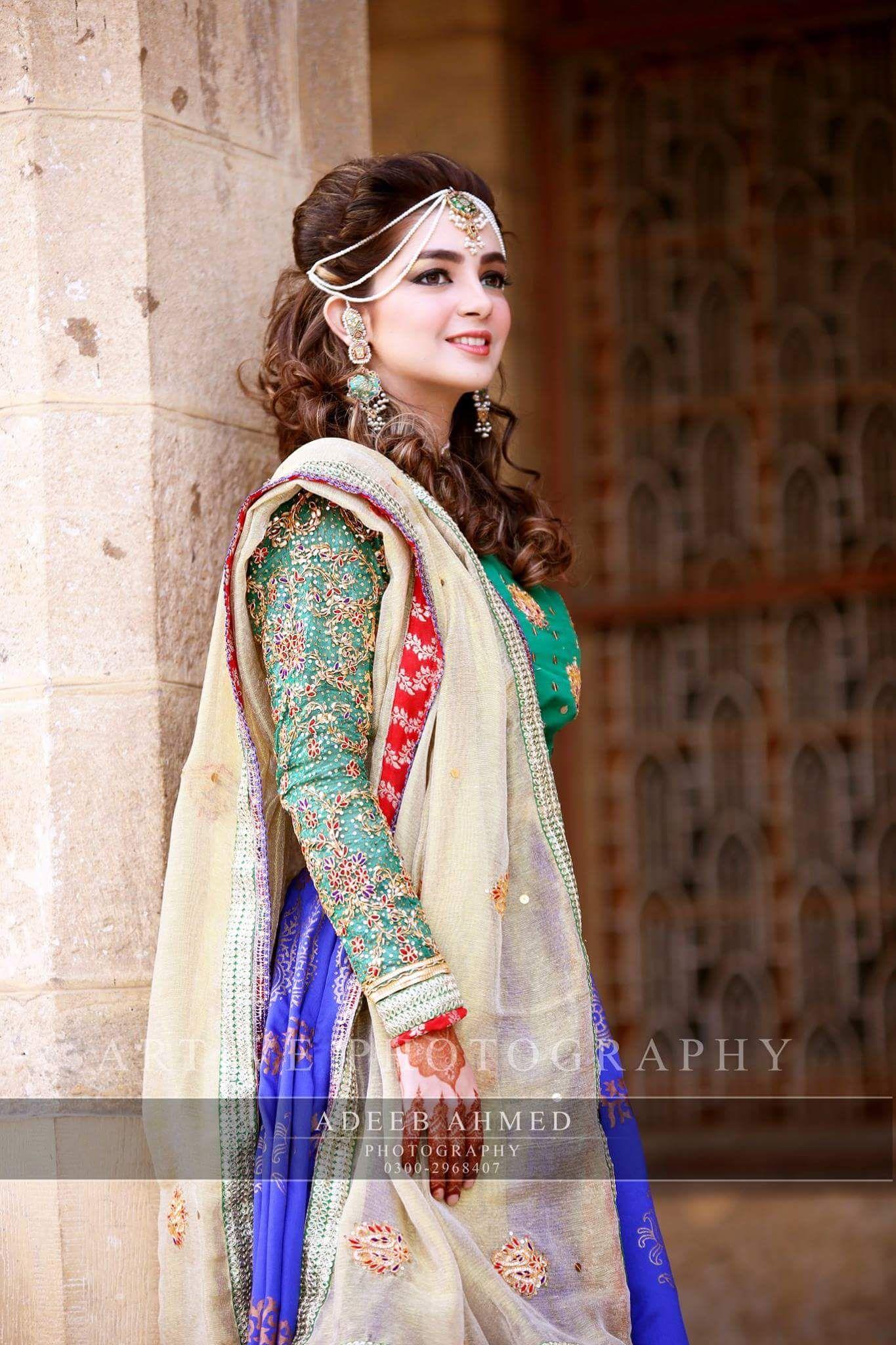 7484350e97 Mehndi bride, Artive studio Adeeb Ahmad photography Dulhan Dress, Mehndi  Dress, Pakistani Wedding