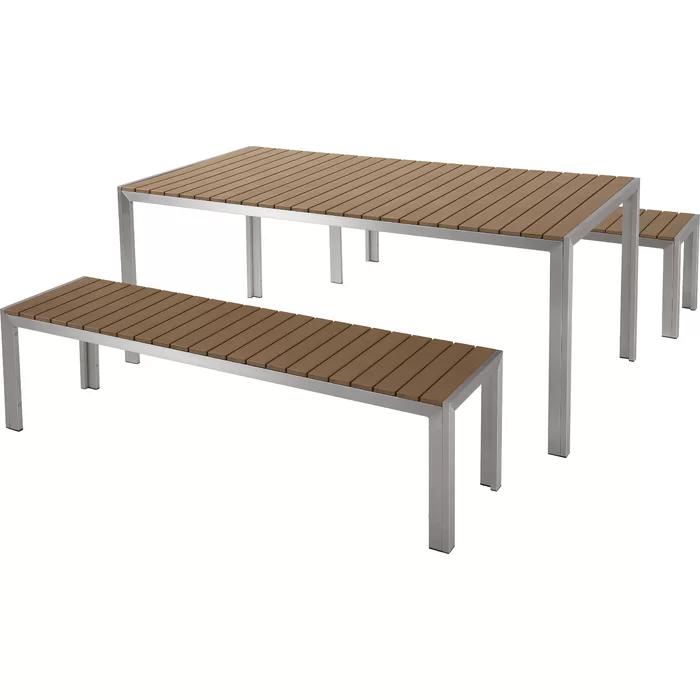 Brilliant Sonya 3 Piece Dining Set Garden Backyard Modern Customarchery Wood Chair Design Ideas Customarcherynet