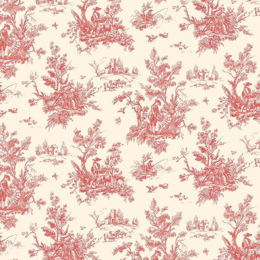 Norwall Toile Vinyl Roll Wallpaper Covers 56 Sq Ft Ab27657 The Home Depot In 2021 Toile Wallpaper Norwall Wallpaper Roll