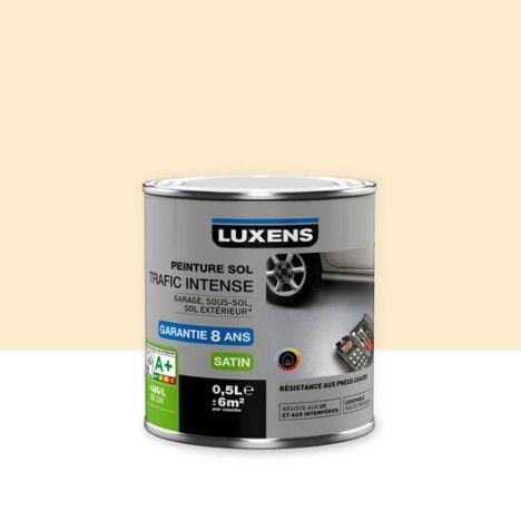 Peinture sol, extérieur   intérieur, Trafic intense LUXENS, sable - traitement humidite mur exterieur