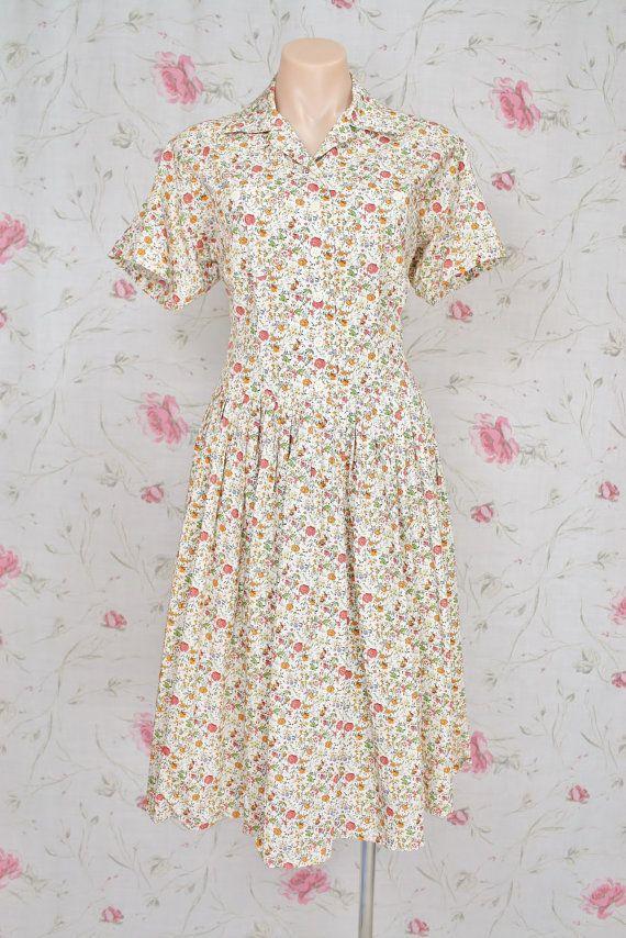 Japanese Vintage SHIRTWAIST Dress 559e92531b0