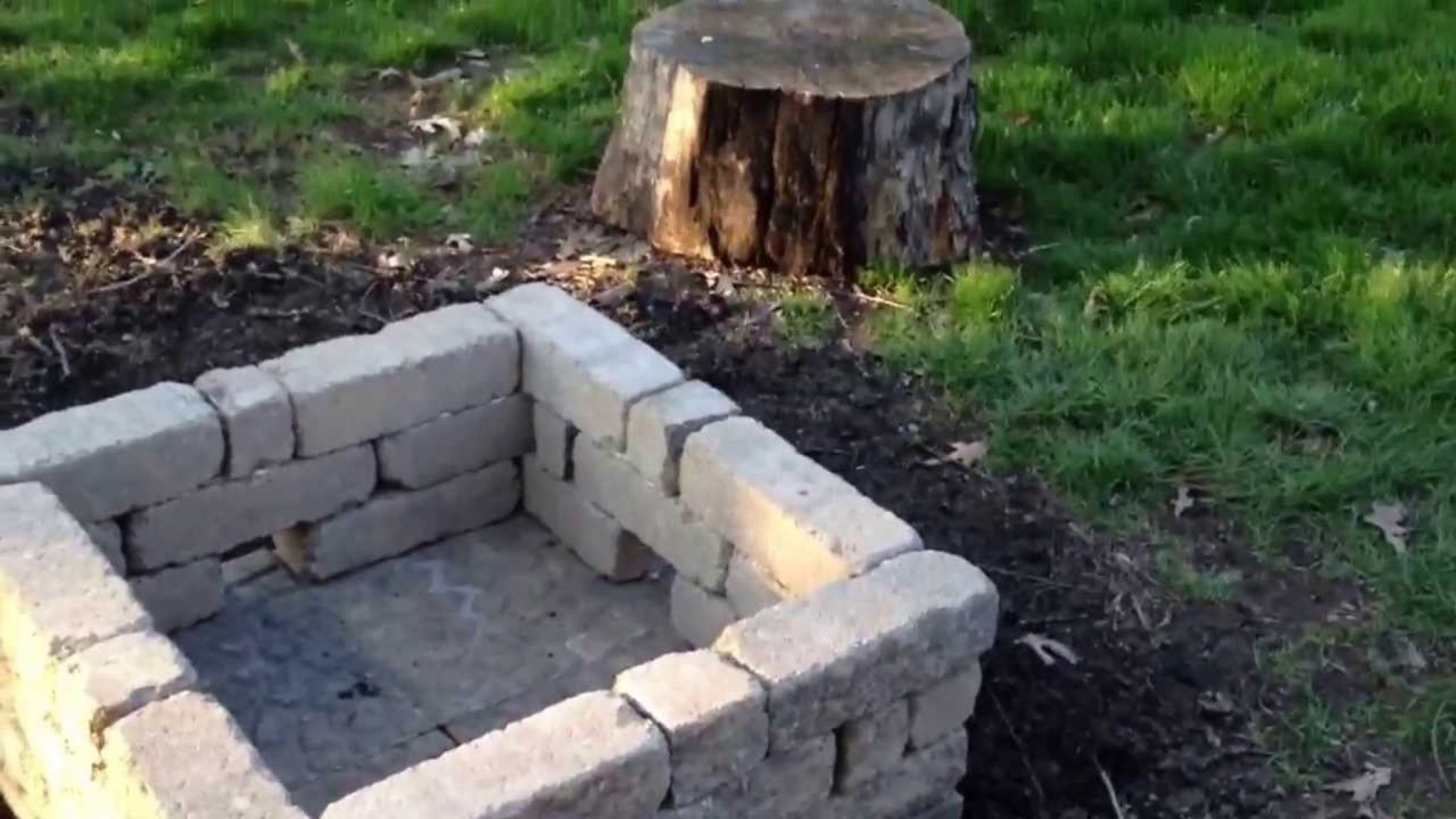 building outdoor fireplace with cinder blocks best paint for