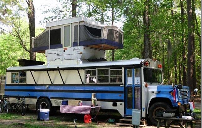 56 Best Buses Images On Pinterest: Interesting Idea For A Bus Conversion, A Pop Up Camper