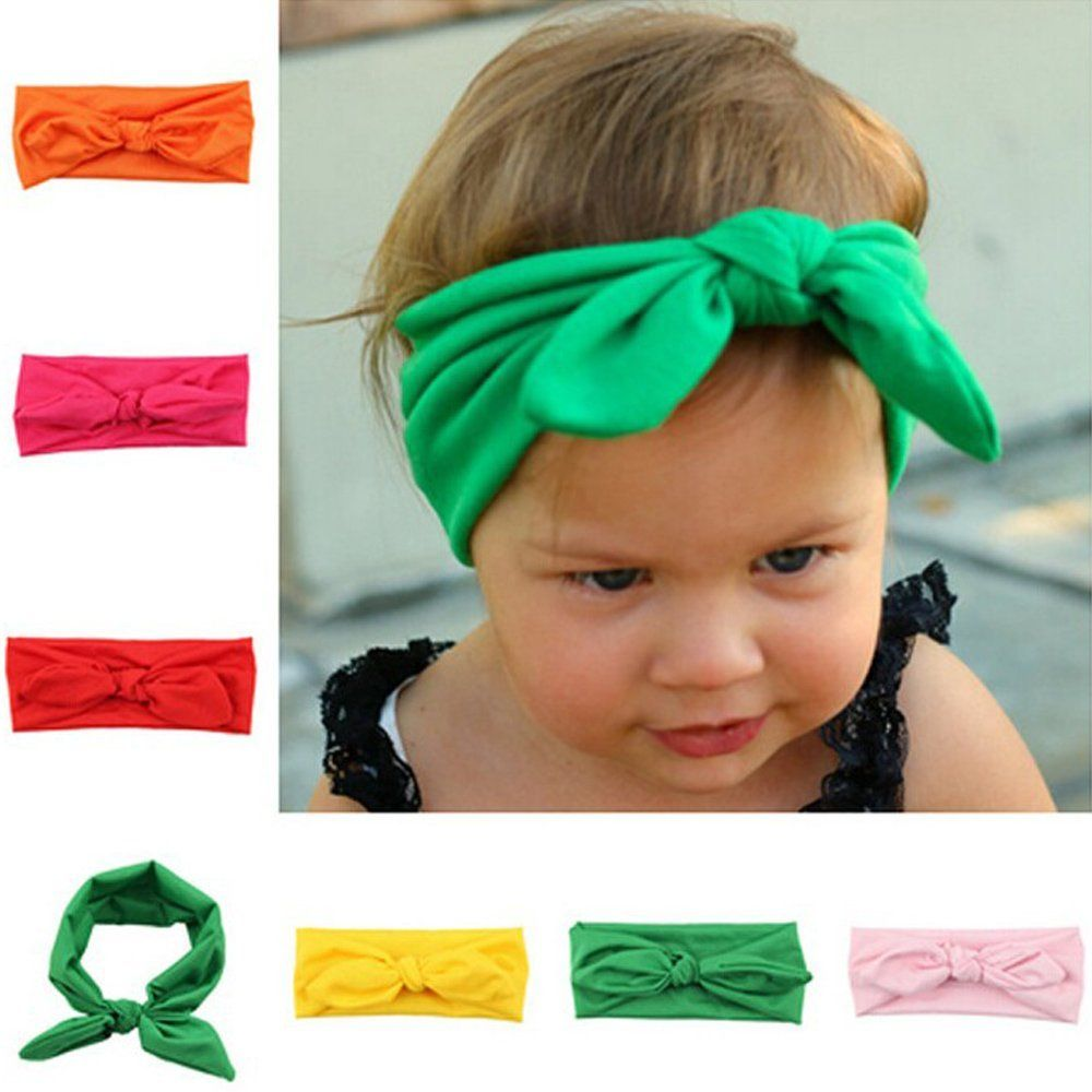 f083dd22ac0 2015 New kids Headband knot tie headband headwrap Vintage Head Wrap Photo  Prop stretchy Knot Girls Hair Accessories