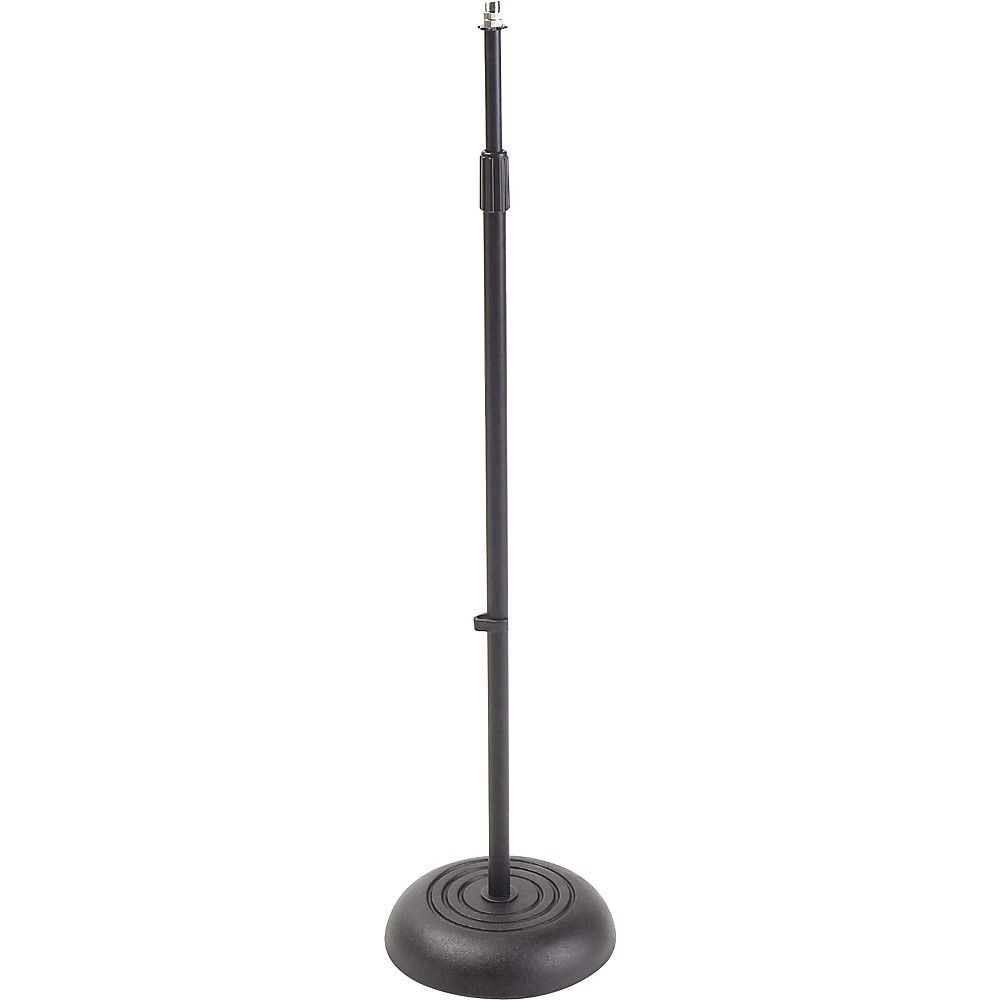 Ms235 Round Base Microphone Stand Black Base Metal