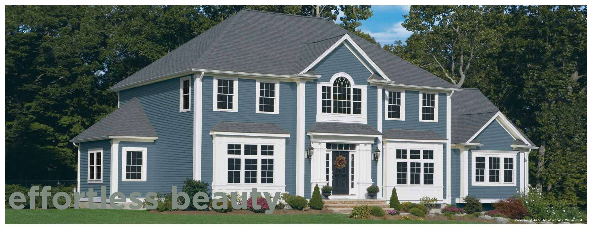 English Wedgewood Siding Ideas House Siding Blue