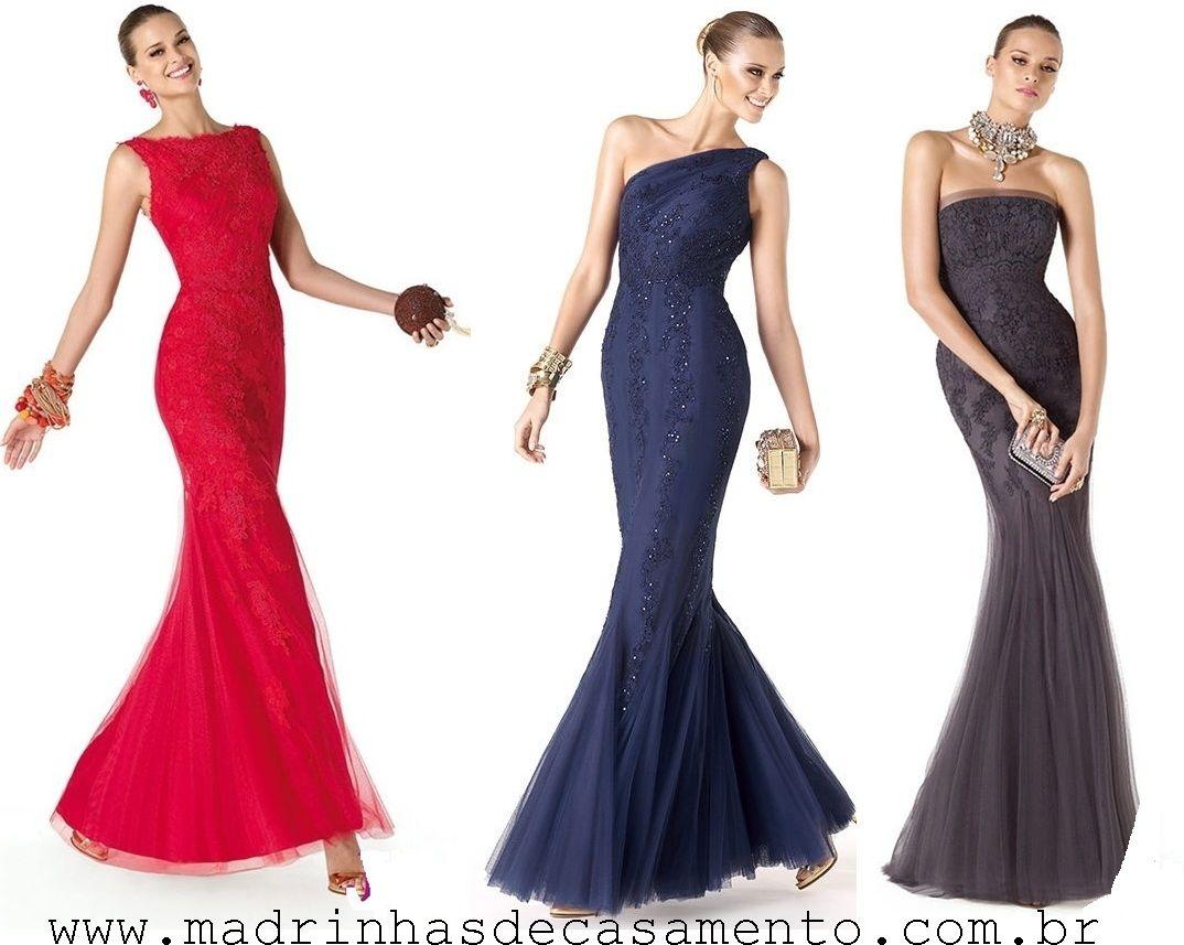 Madrinhas de casamento: Vestidos de festa modelo sereia