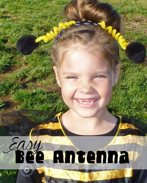 My easy floppy bee antenna are the perfect finishing touch to a great costume. Try them for butterfly, bumblebee and ladybug costumes. A simple project!