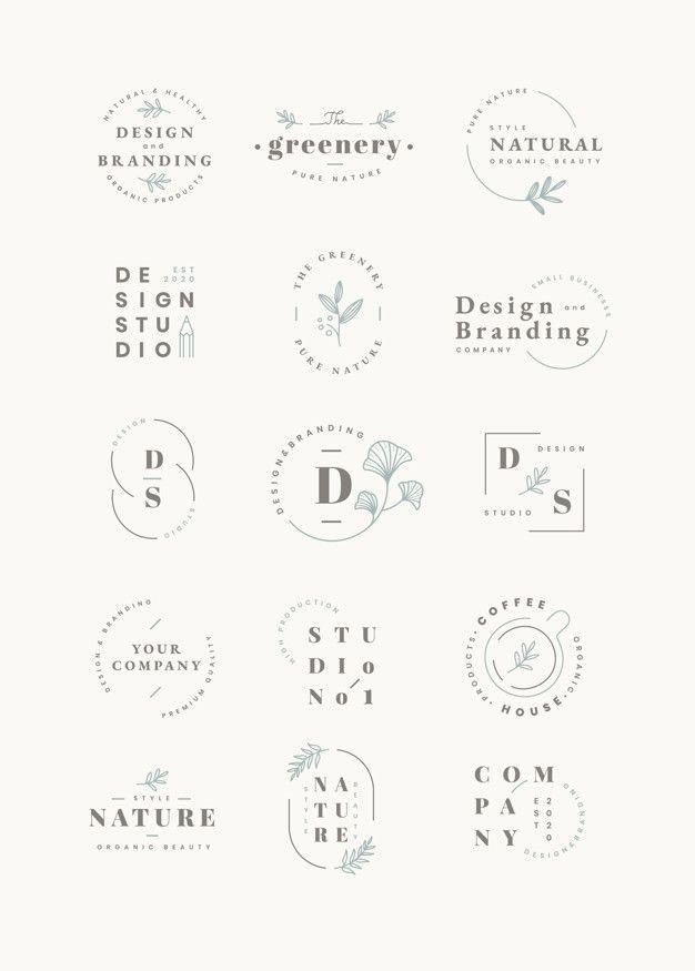 Ensemble De Conception De Logo | Téléchargez maintenant des vecteurs gratuits sur Freepik