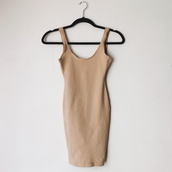 Scoop Back Tank Dress AA tank dress • Now discontinued at AA! use it as a slip or wear it on its own. Worn once. Has a loose thread in the back. trades...sorry! American Apparel Dresses Mini