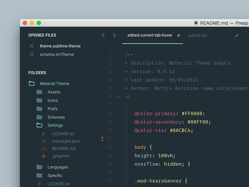 Material Theme Sublime Text 3 Sublime text 3, Material