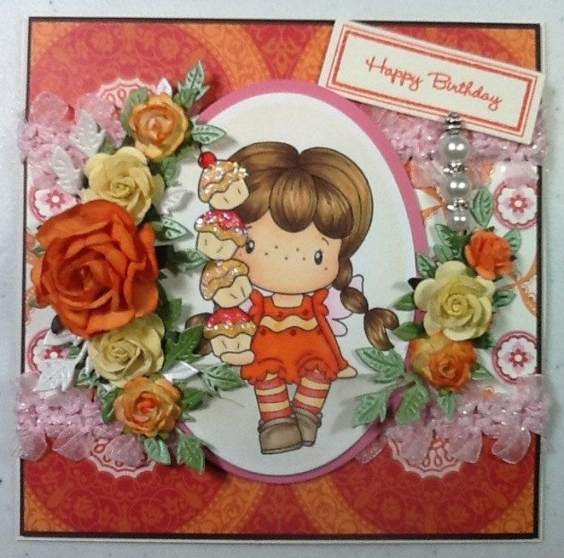 cc designs cupcake brigitta happy birthday  etsy