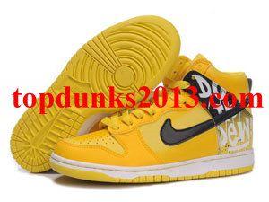 Custom Lemon Do The Dew Nike Dunk Men High Top Fast Shipping