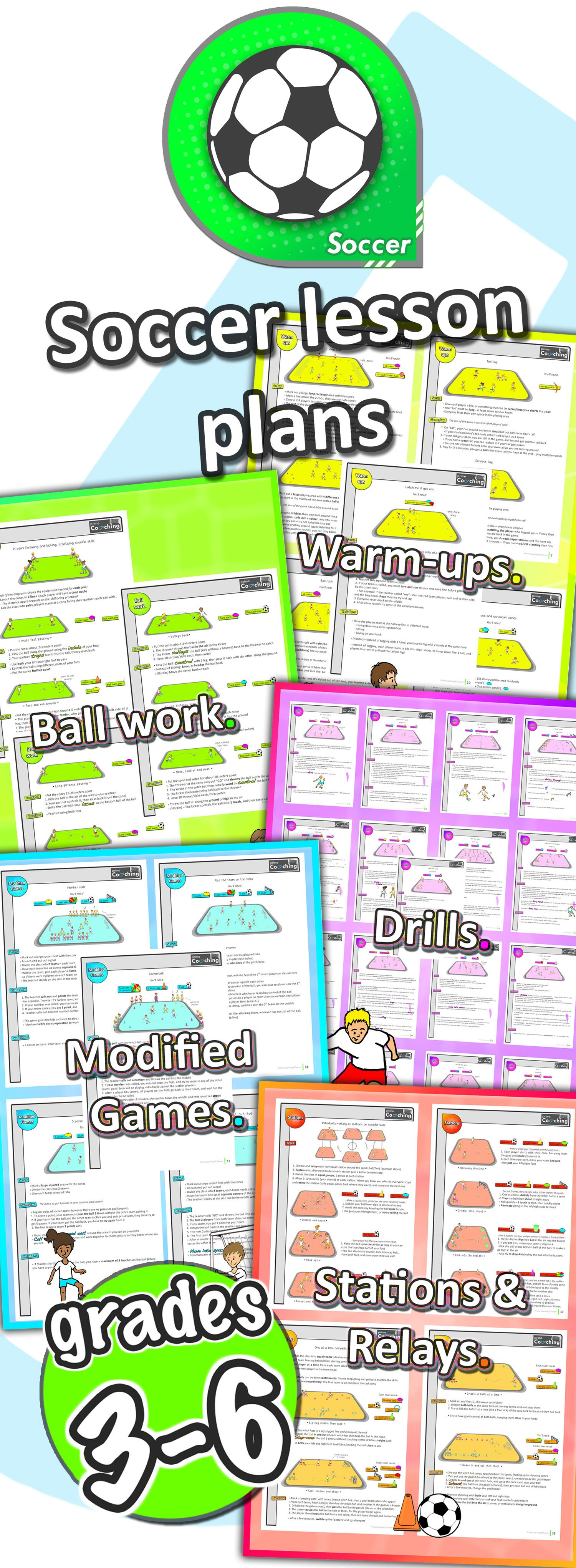 Soccer PE lessons Sport unit with plans, drills, skills