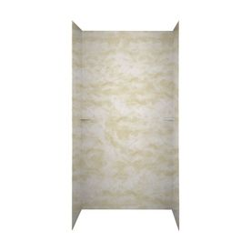 Swanstone Cloud White Shower Wall Surround Side And Back Walls (Common