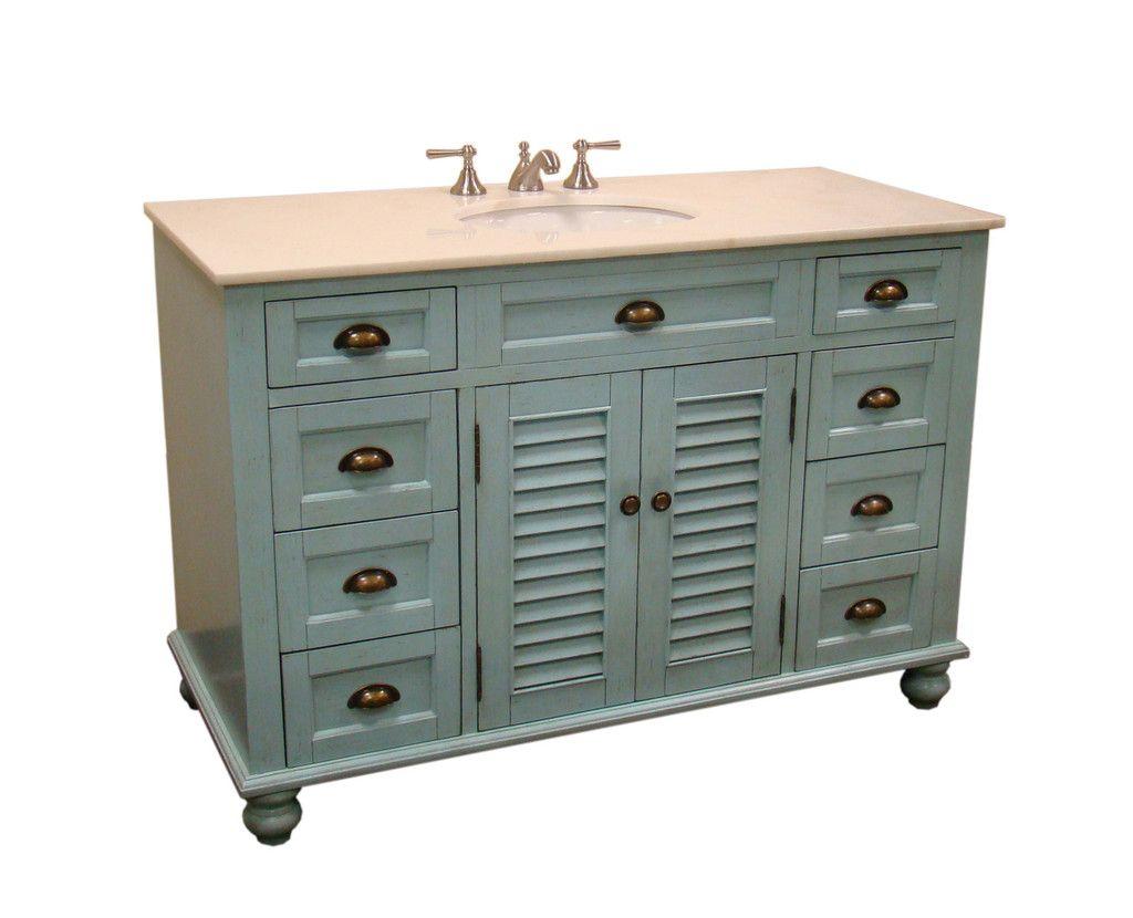 Adelina 48 75 Inch Cottage Bathroom Vanity Marble Top Bathrooms
