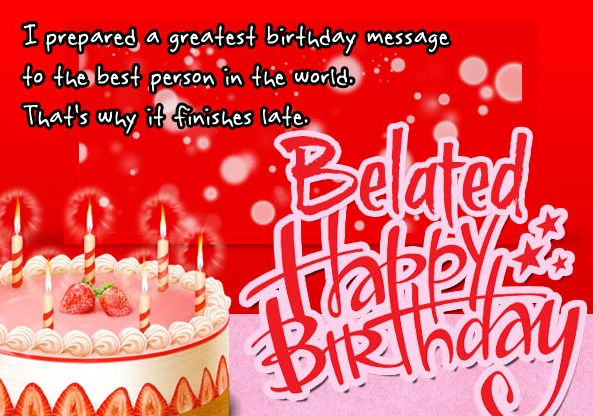 Belated Birthday Wishes Meaning