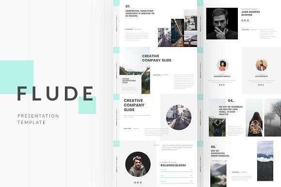 FLUDE Powerpoint Template Modern Presentation Template Pinterest